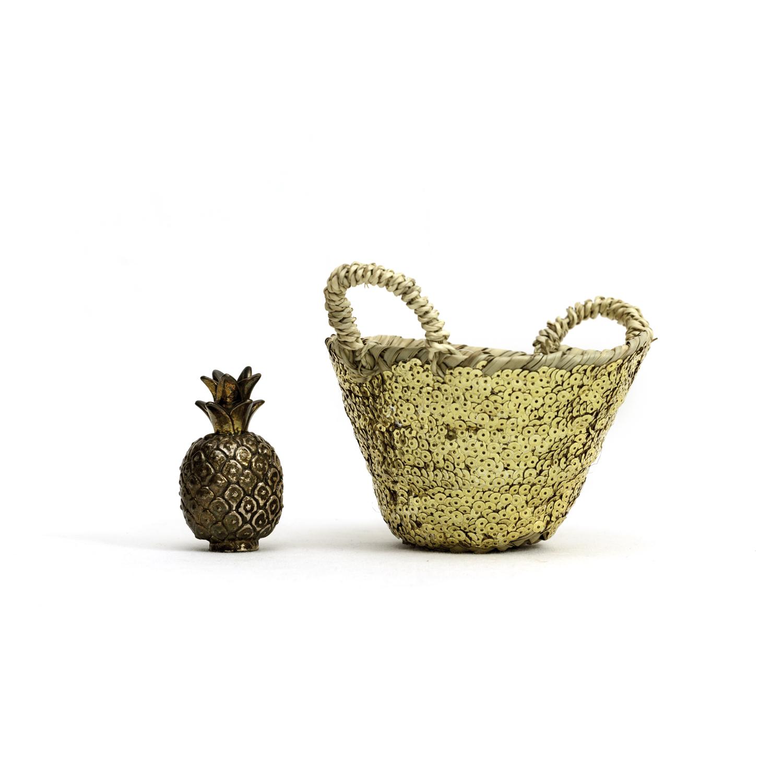 Moroccan sequins mini basket