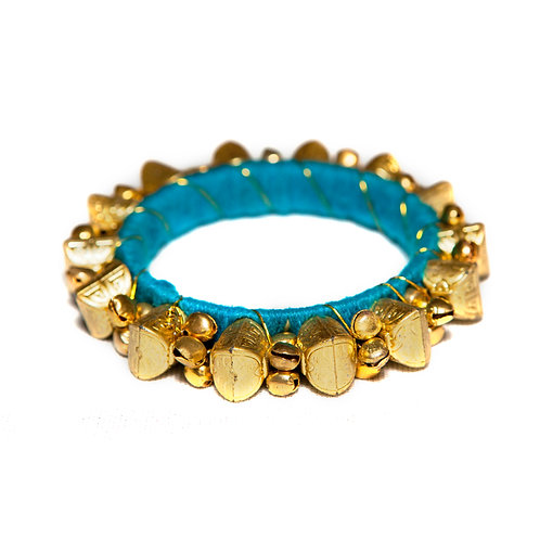 Udaipur - Indian Bells Bangle - Turquoise