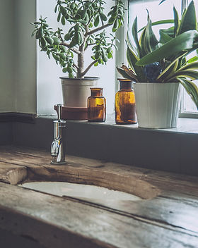 houten sink