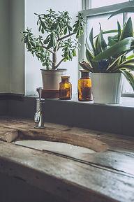 Wooden sink