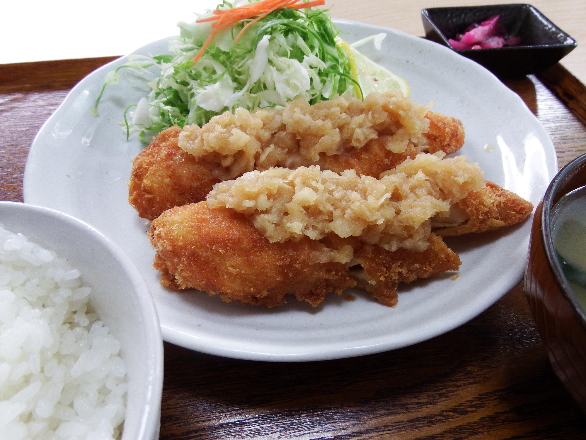シークァーサーおろしポン酢で食べるササミカツ