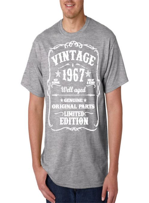 d4282775c Great Gift for Any Man Turning 50 - Born in 1967 50th Birthday - Vintage Tee  Printed in the USA