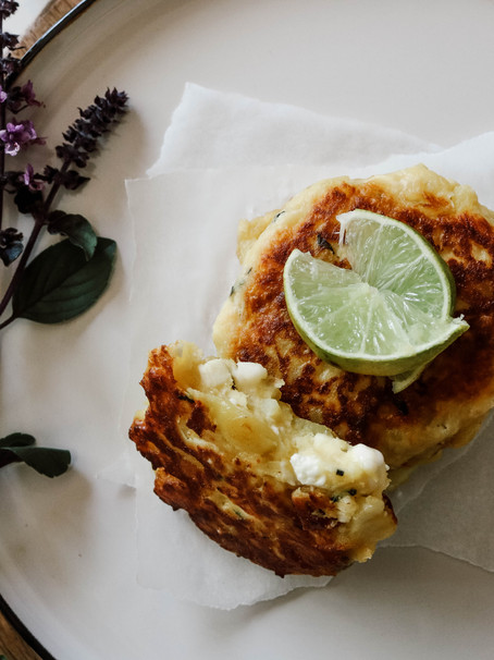 Kartoffel-Feta-Basilikum Laibchen