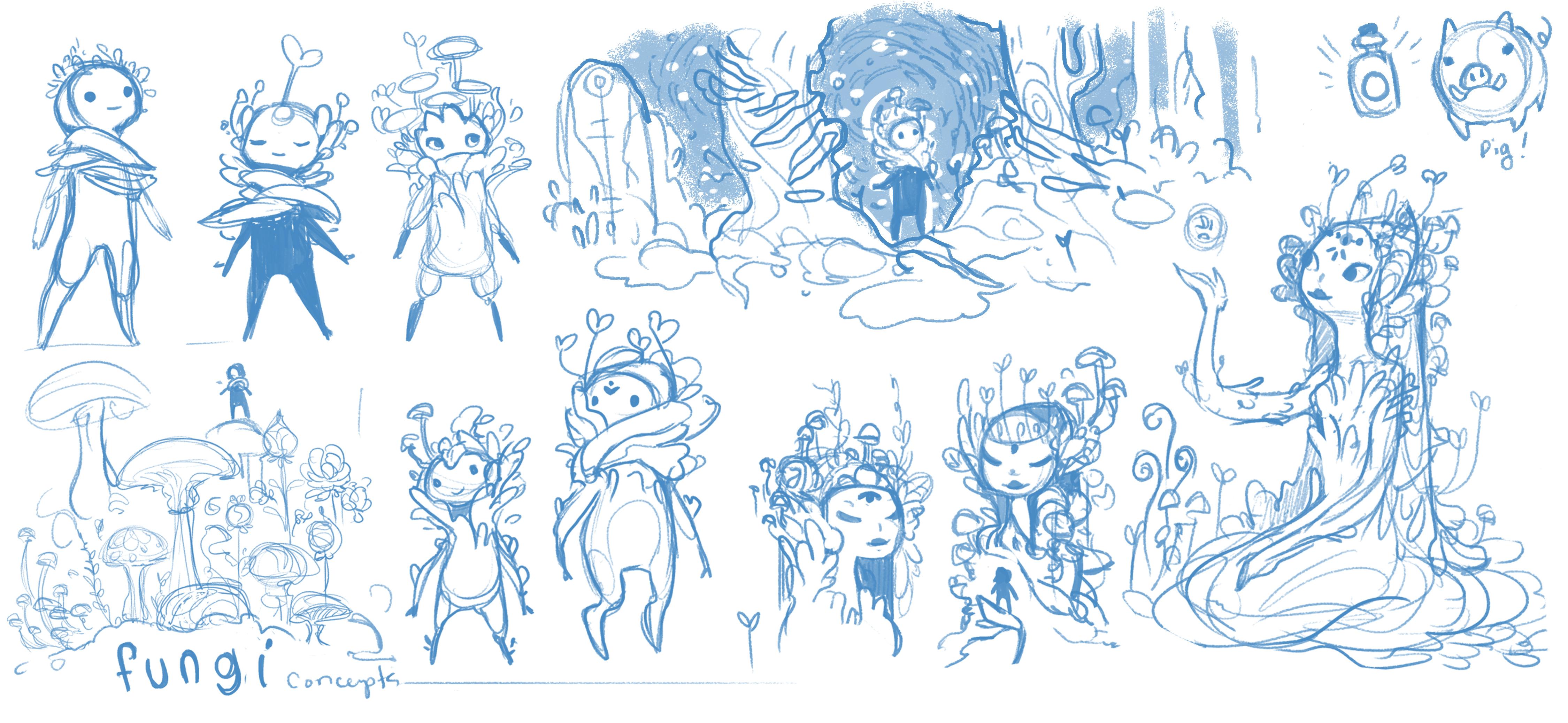 Mushroom Queen & Character Concepts