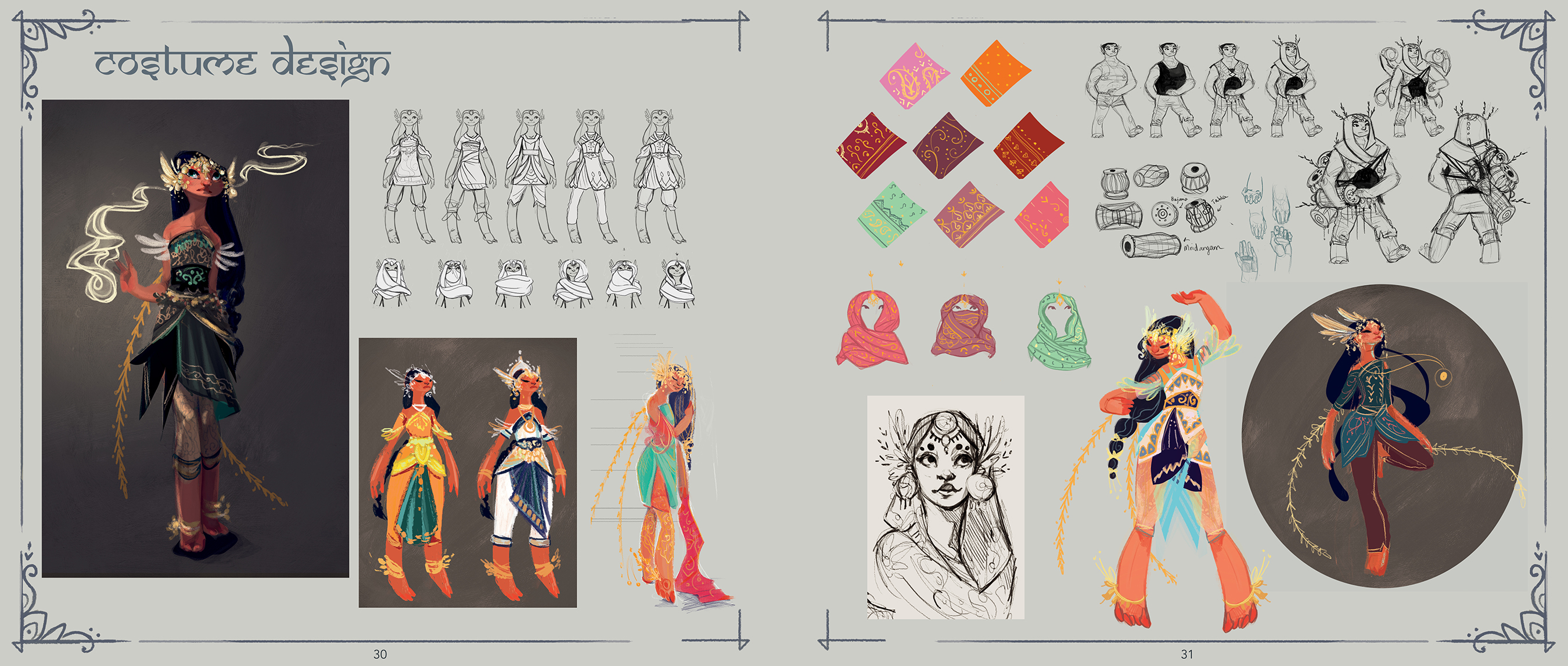 Costume design spread