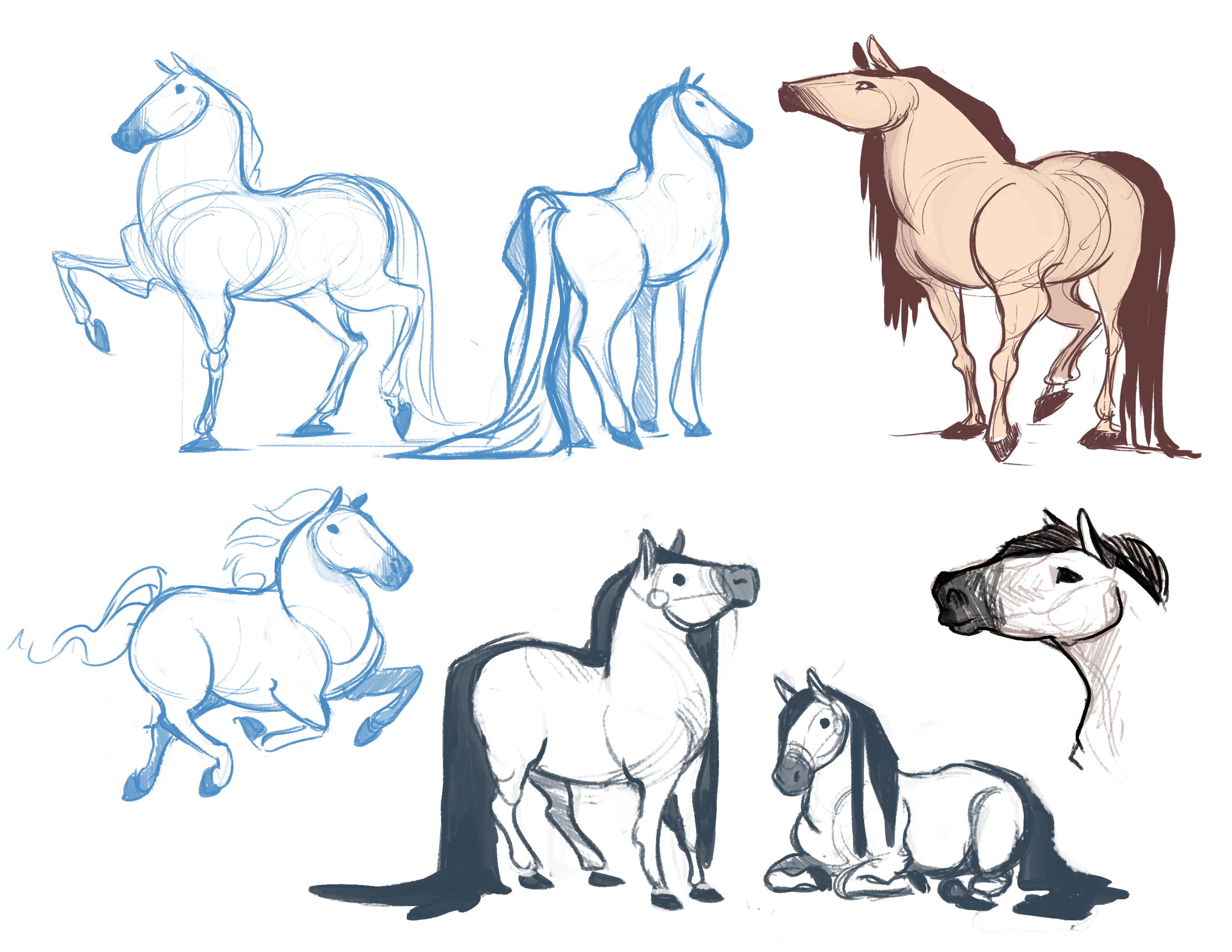 Horton_horse sketches 2
