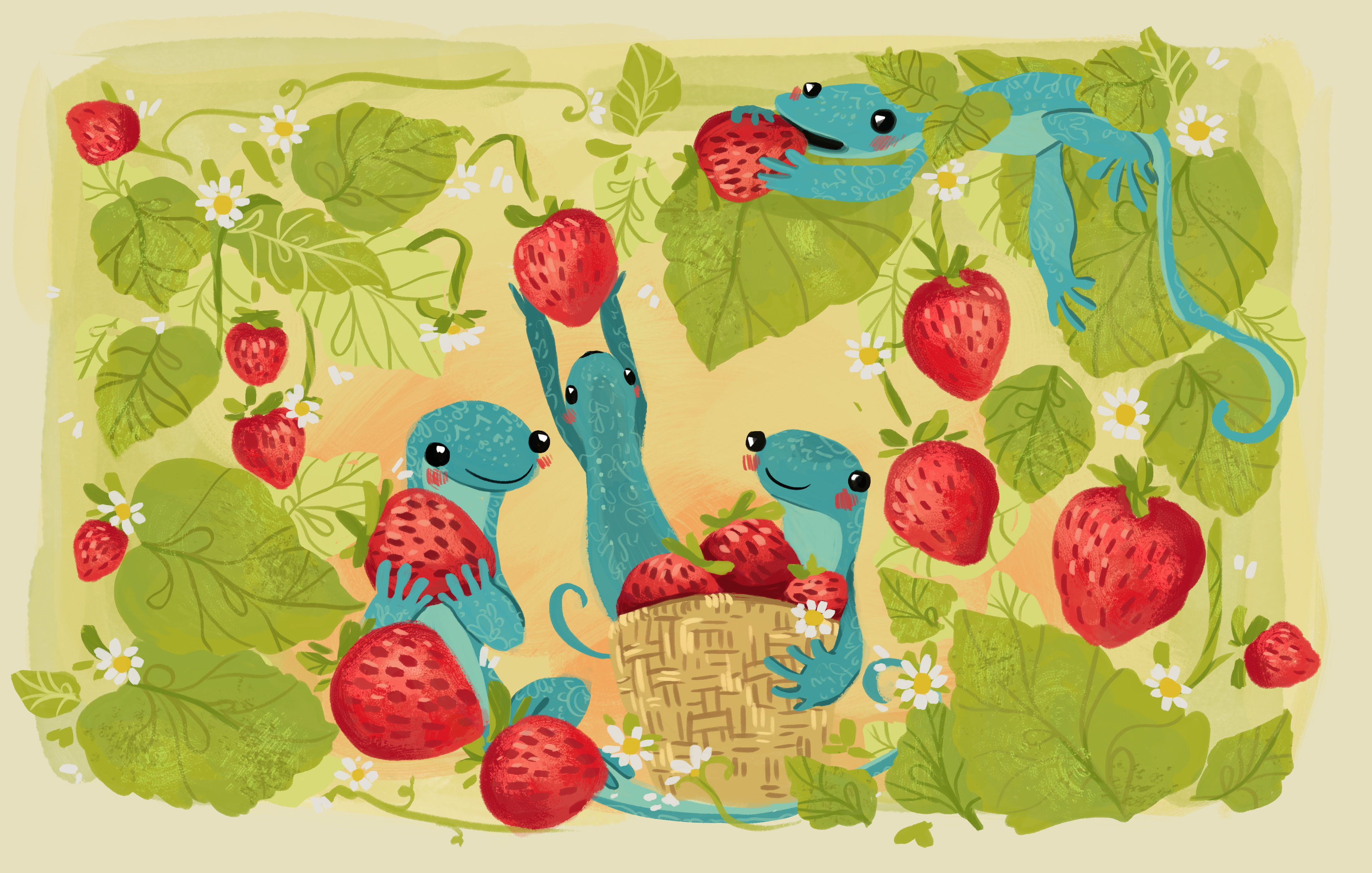 Geckos and Strawberries