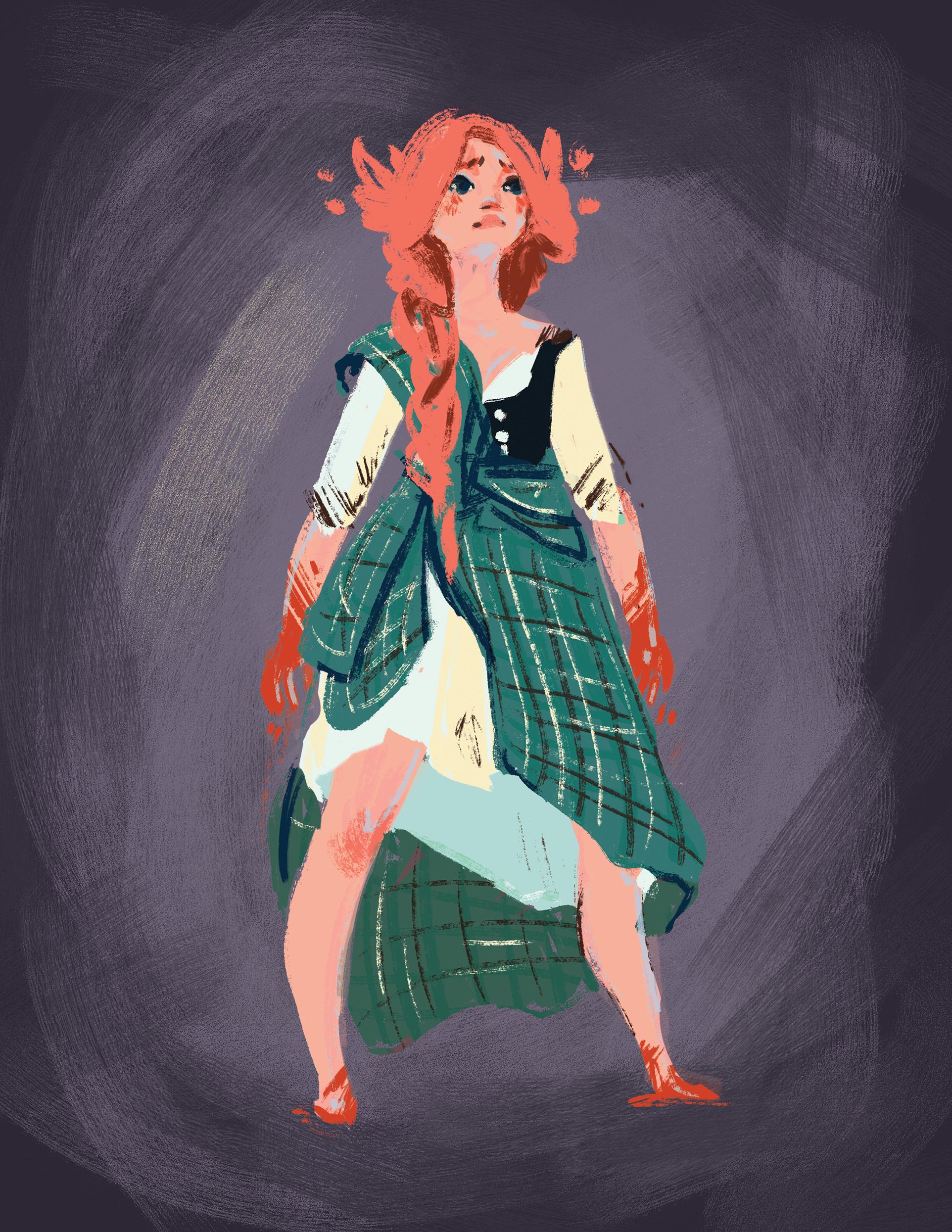 Irish girl character design