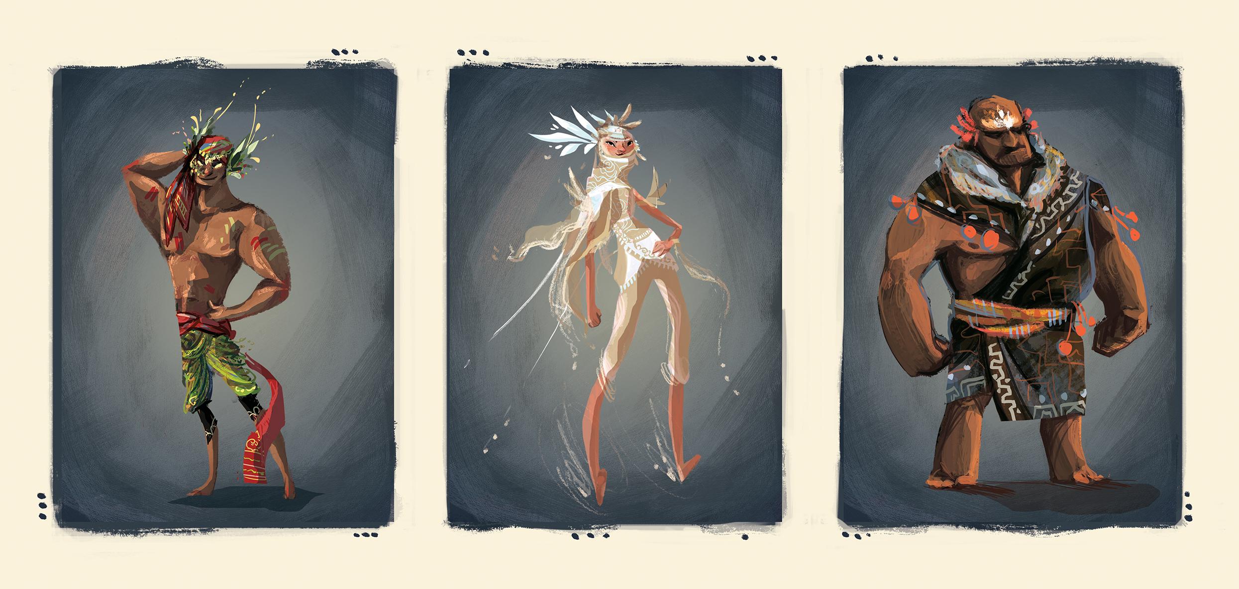3 character final designs