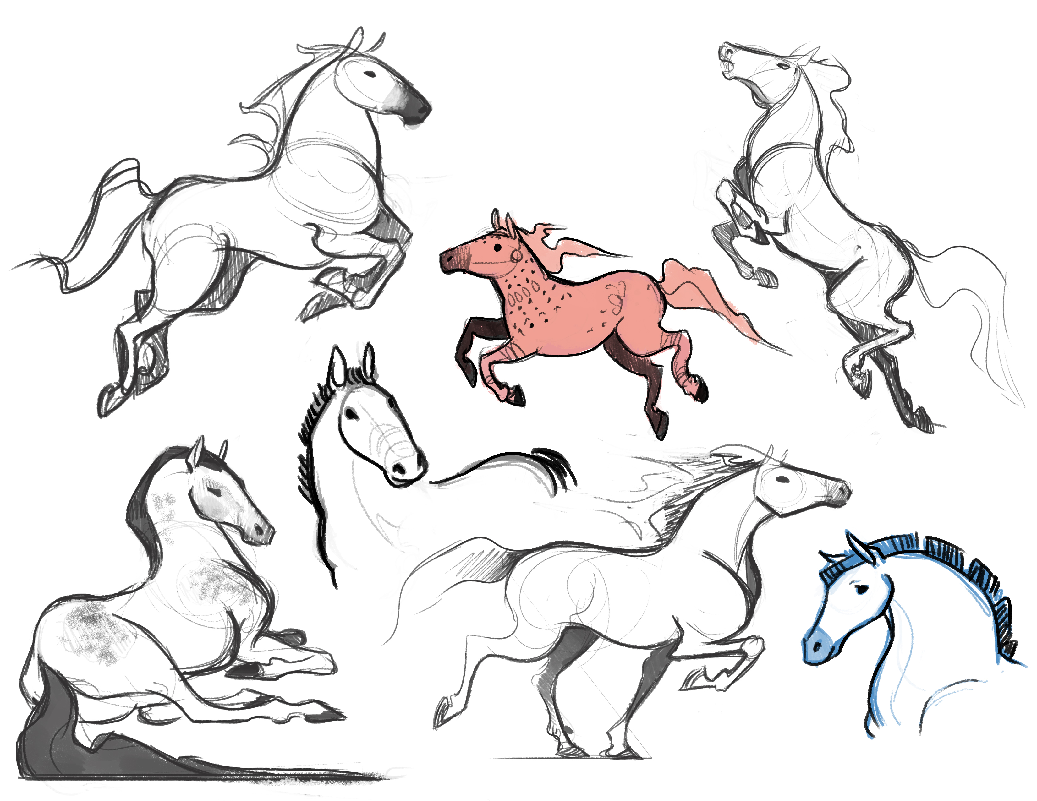 Horton_horse sketches 1