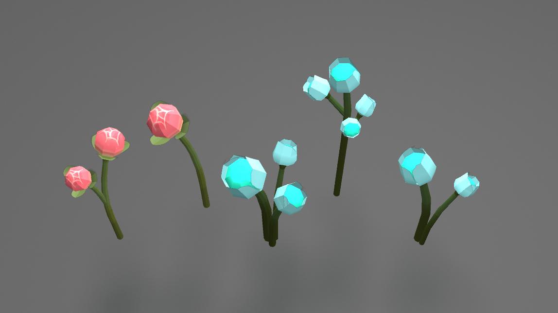 Final flower models