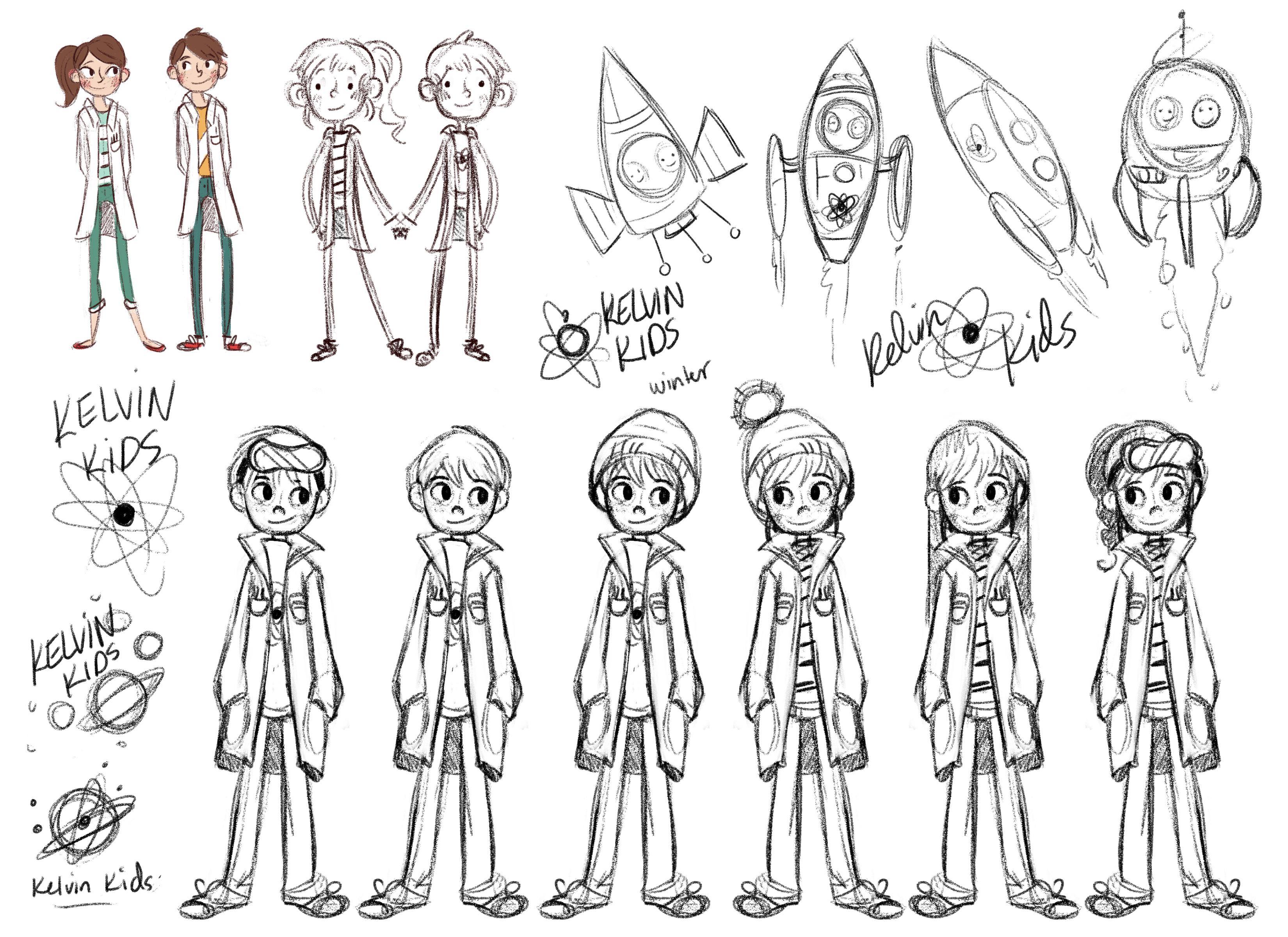 Kelvin Kids Character Designs