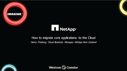 NetApp How to migrate core applications