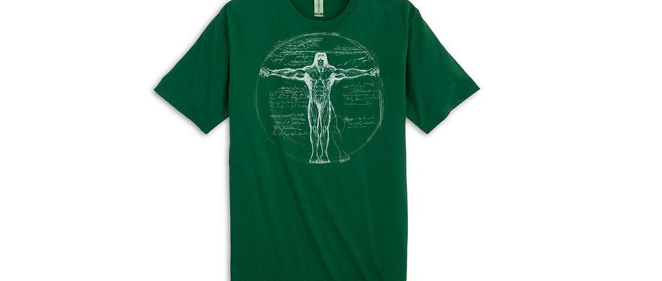 Davinci Anatomy of Bigfoot T-Shirt in Forest Green