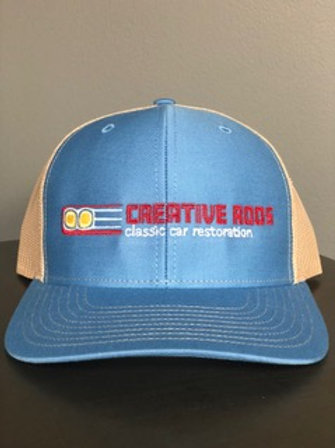 Creative Rods Trucker Structured Mid Profile FULL Logo Hats
