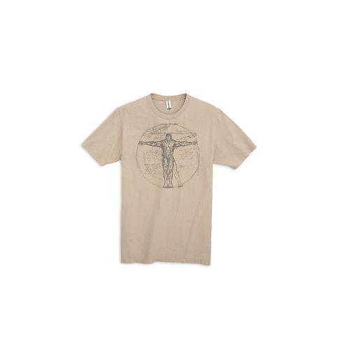 Davinci Anatomy of Bigfoot T-Shirt in Latte