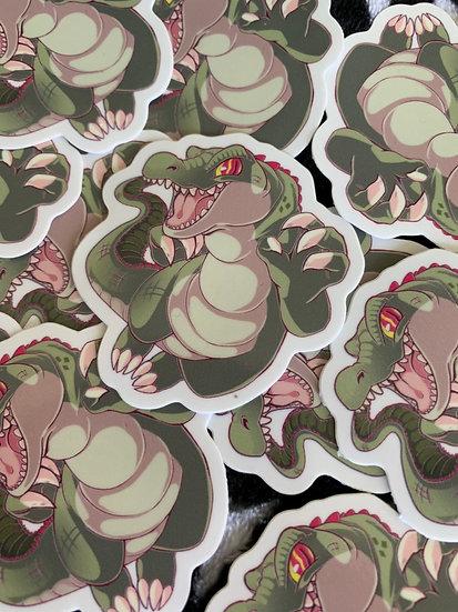 Croc vinyl sticker