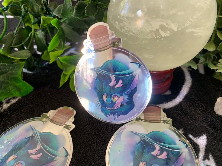 Potion Bottle Dragon mirror vinyl sticker