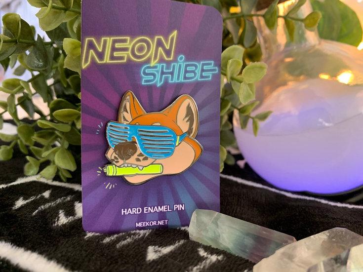 NEON SHIBE | Glow in the dark hard enamel pin