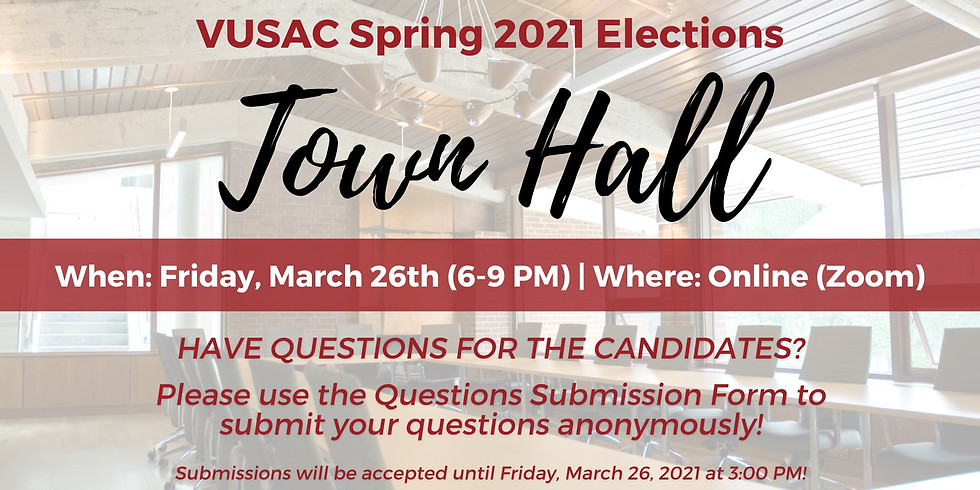 VUSAC Spring 2021 Elections: Town Hall