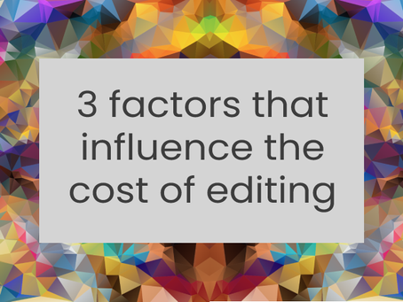 3 factors that influence the cost of editing