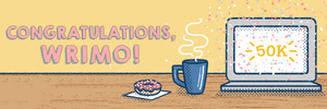 Congratulations, Wrimo! Banner image