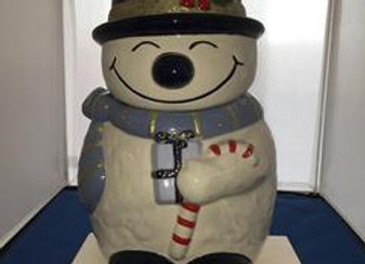 """Happy"" Snowman Cookie Jar"