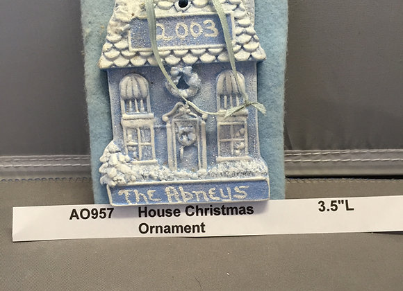 House Christmas Ornament