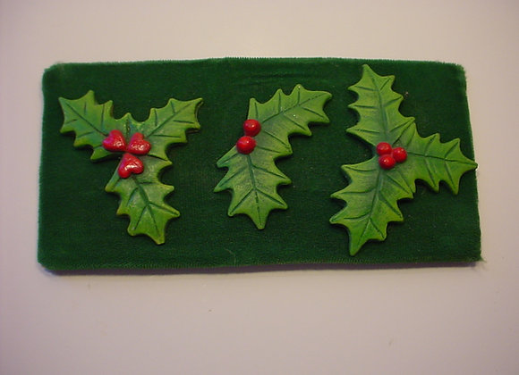 Three Holly Magnets