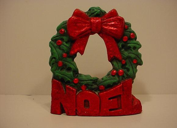 "Tea-light:""NOEL"" Wreath"