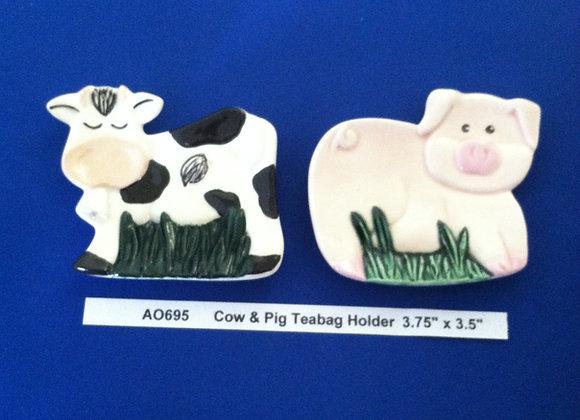Cow & Pig Teabag Holder