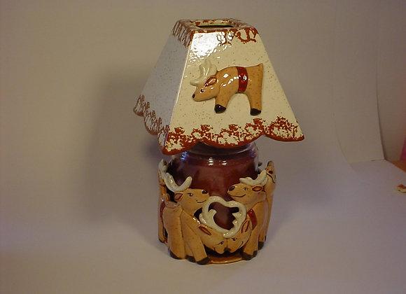 Reindeer Candle Jar Pot
