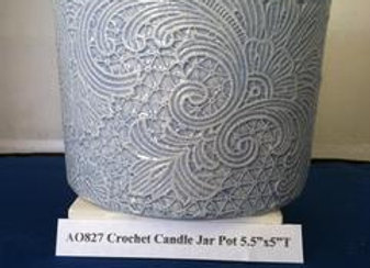 Crochet Candle Jar Pot