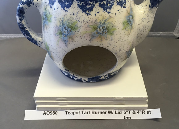 Teapot Tart Burner with Lid
