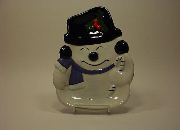 Happy Snowman Plate