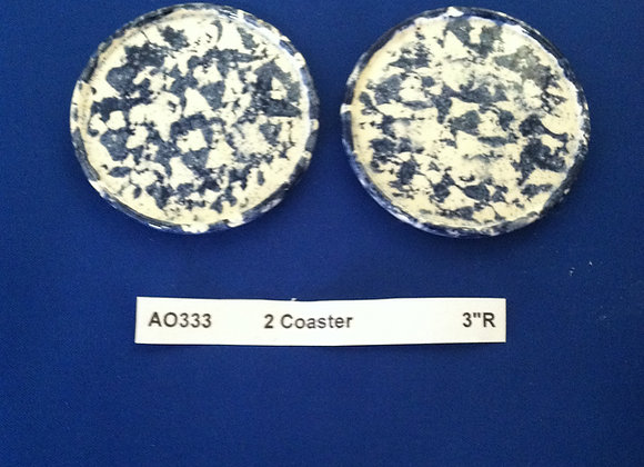 Two Coasters/ Round Ornaments