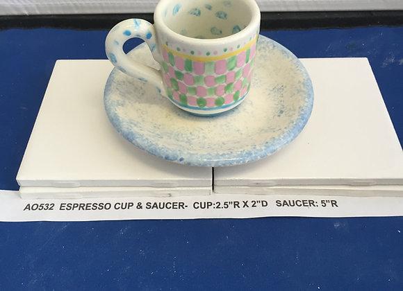 Espresso Cup & Saucer