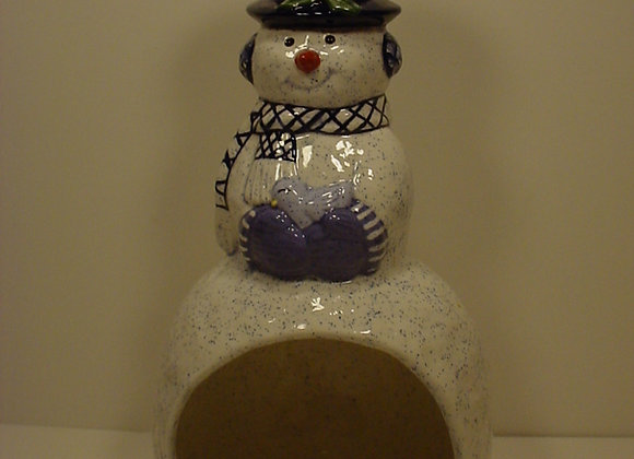 Snowman Candle Chimney
