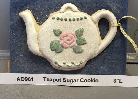 Teapot Sugar Cookie Flat