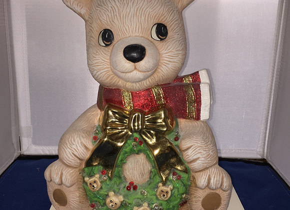 Timmy the Bear with Wreath