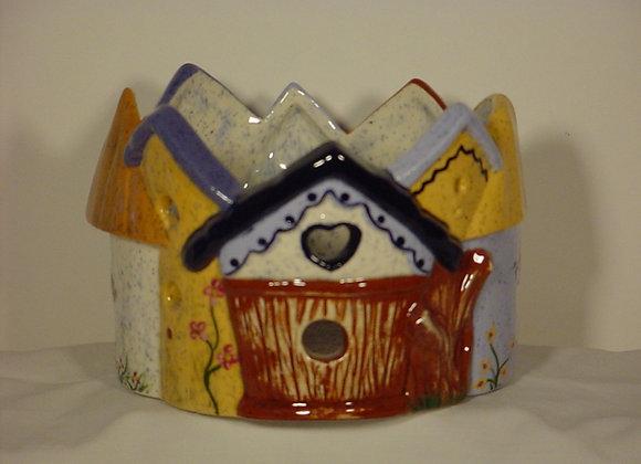 Birdhouse Candle Pot