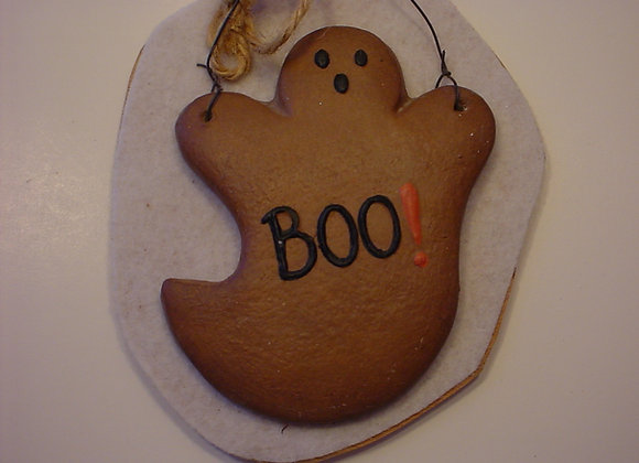 """""""BOO"""" Ghost Cookie Ornament"""