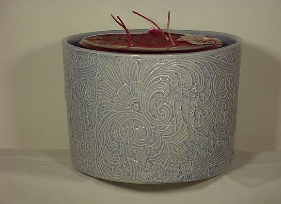 Large Crochet Candle Pot