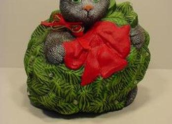 Cat in Wreath