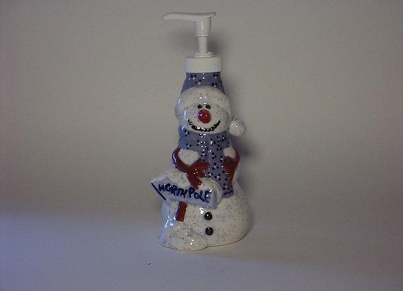 Snowman Lotion / Soap Dispenser