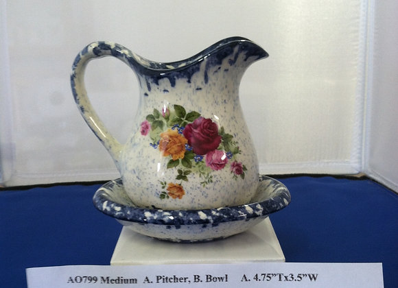 Medium Pitcher and Bowl