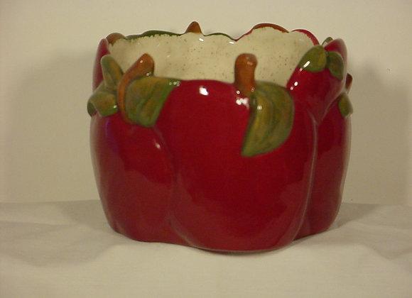 Apple Candle Jar Pot
