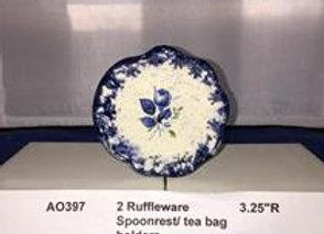 Two Ruffleware™ Tea Bag Holders