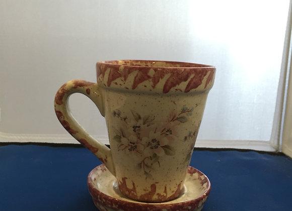 Flowerpot Cup and Saucer