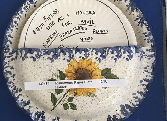 Ruffleware™ Paper Plate Holder